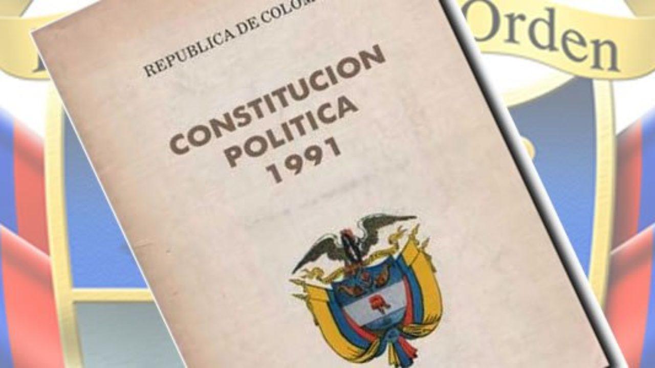 Cómo Está Organizada La Constitución Política De Colombia