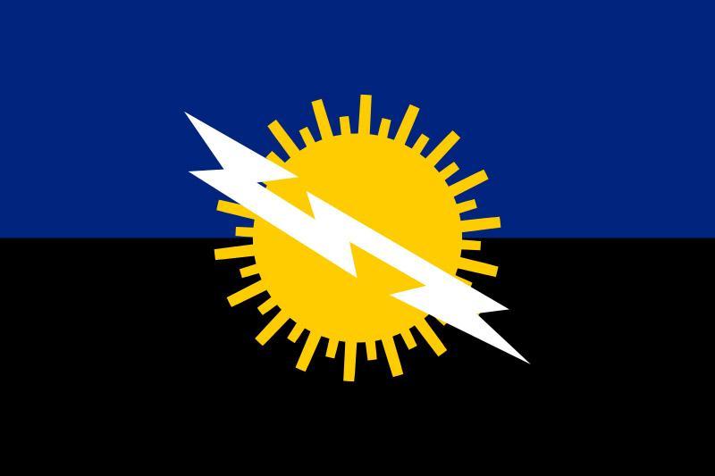 Como un niño, eses de venezuelas Bandera-estado-zulia