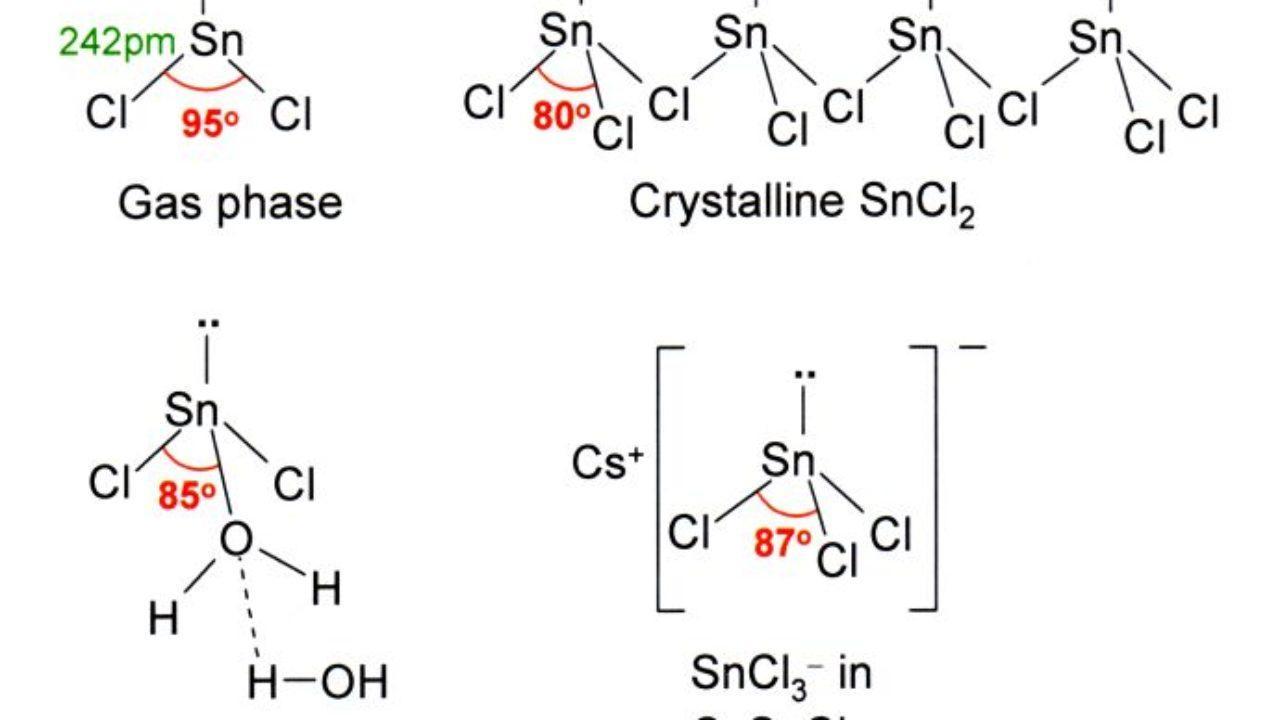 Cloruro De Estaño Sncl2 Propiedades Estructura Usos