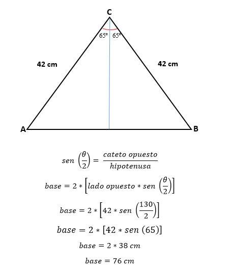 como calcular altura de un triangulo