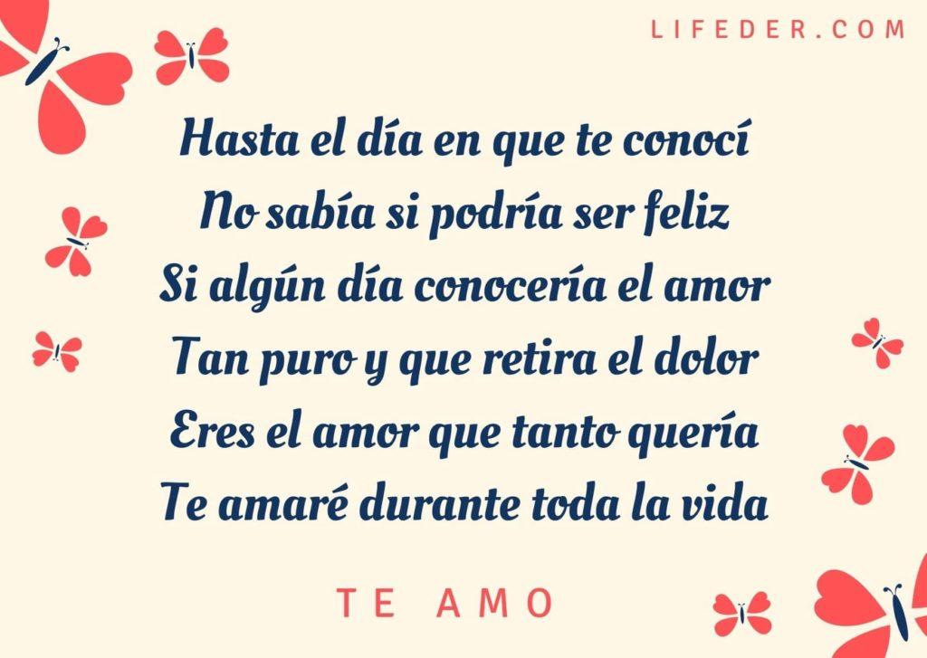 Poemas te amo Te amo